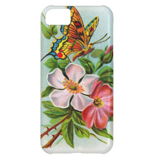 Rose & Butterfly Cover For iPhone 5C