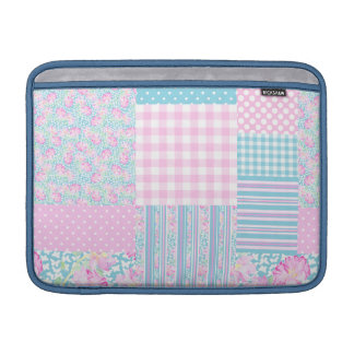 Rose Butterfly Faux Patchwork MacBook Air Sleeve