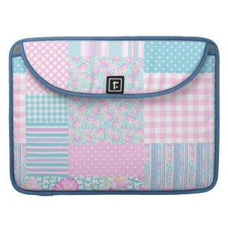 Rose Butterfly Faux Patchwork MacBook Pro Sleeve