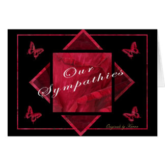 Rose & butterfly sympathy card