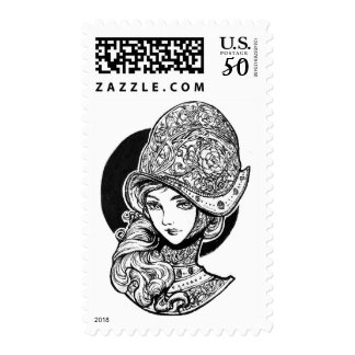 Rose BW Stamp