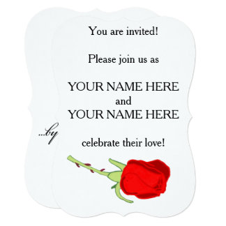 Rose By Any Other Name Wedding Invitation