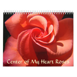 Rose Calendar Center of My Heart Valentine Gifts