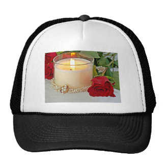 Rose Candles And Pearls Trucker Hat