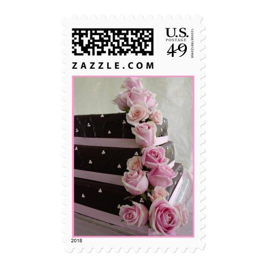 Rose cascade wedding cake postage