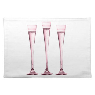 Rose Champagne Flutes Place Mat