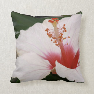 Rose chinese hibiscus throw pillow
