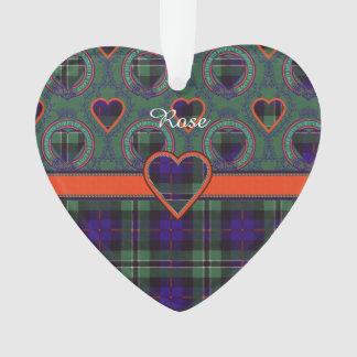 Rose clan Plaid Scottish tartan