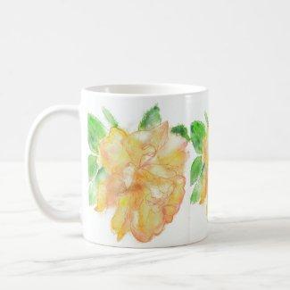 'Rose' Classic White Mug mug