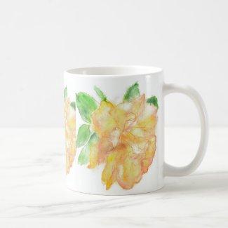 'Rose' Classic White Mug