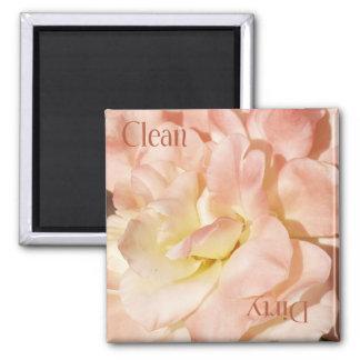 Rose Clean Dirty Dishwasher Magnet