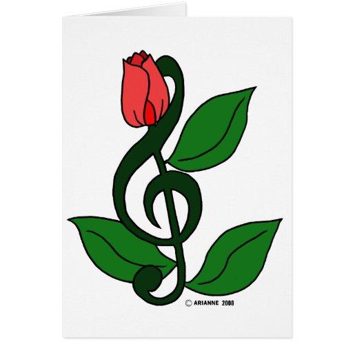 Rose Clef Card
