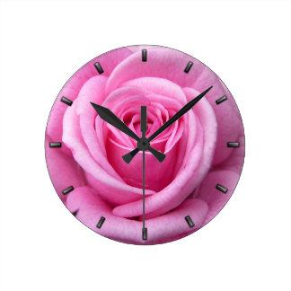 Rose Clock Pink Rose Flower Wall Clock Rose Decor