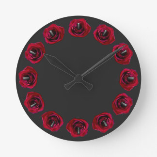 Rose Clock Red Rose Flower Wall Clock Rose Decor