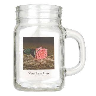 Rose Close-Up custom Mason jar