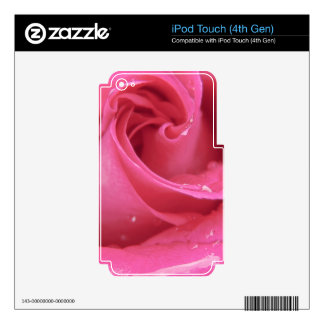 Rose Close Up Skin For iPod Touch 4G