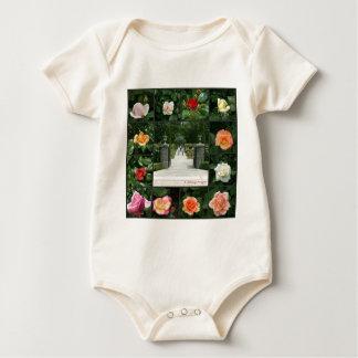 Rose collage baby bodysuit