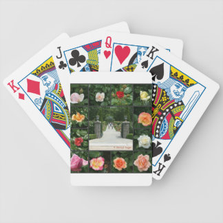 Rose collage bicycle playing cards
