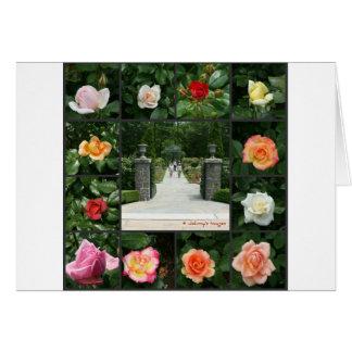 Rose collage card