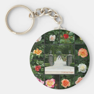 Rose collage keychain