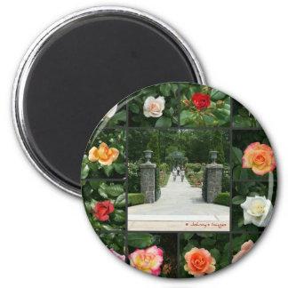 Rose collage magnet