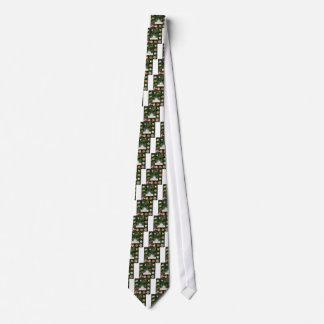 Rose collage neck tie