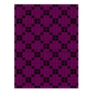 Rose Color Tiles Postcard