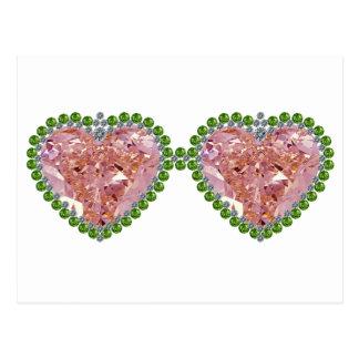 Rose Colored Glasses Postcard