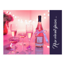 Rose Colored Glasses Thank You Postcard, Custom Postcard
