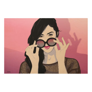 Rose-Colored Glasses Wood Wall Decor