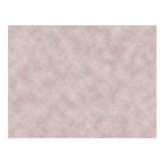 Rose Colored Parchment Texture Background Postcard