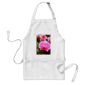 Rose Colored Phalaenopsis Orchid Adult Apron