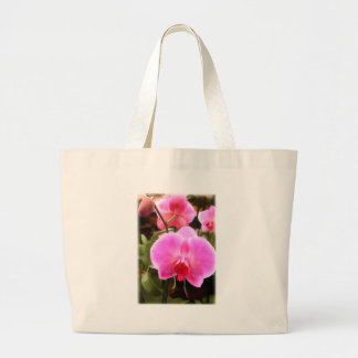 Rose Colored Phalaenopsis Orchids Large Tote Bag