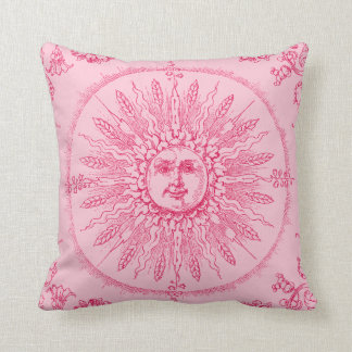 Rose colored World Throw Pillows