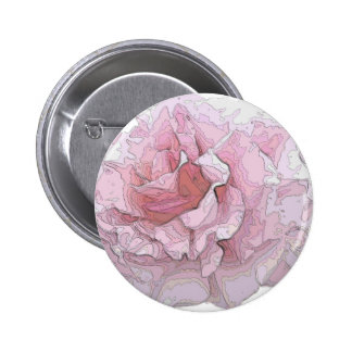 rose contours on white 2 inch round button