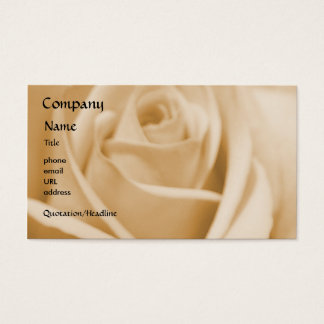 Rose - Cream - business card template