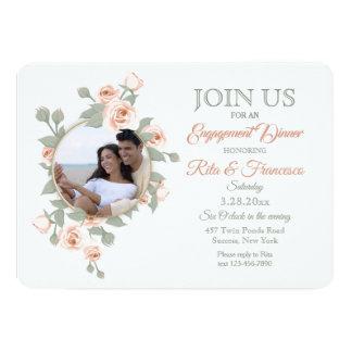 Rose Crescent Photo Invitations