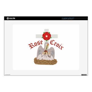 """Rose Croix 15"""" Laptop Skin"""