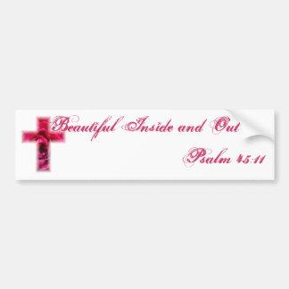 Rose Cross Bumper Sticker