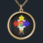 "Rose Cross Lamen Necklace of the Golden Dawn<br><div class=""desc"">A stunning necklace featuring the Rose Cross Lamen of the Golden Dawn Adept.</div>"
