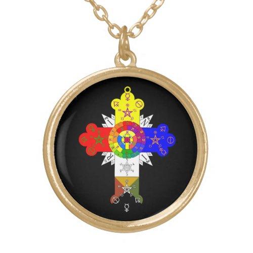 Rose Cross Lamen Necklace of the Golden Dawn