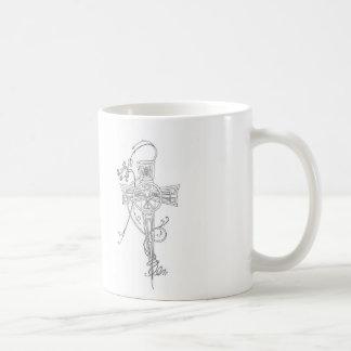 Rose & Cross Classic White Coffee Mug