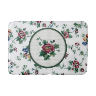 Rose Cross Stitch Bath Mat