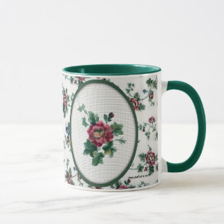 Rose Cross Stitch Mug