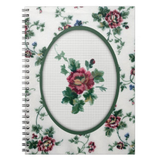Rose Cross Stitch Notebook