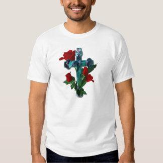 Rose cross tee shirt
