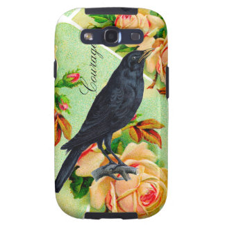Rose Crow Courage Galaxy SIII Case