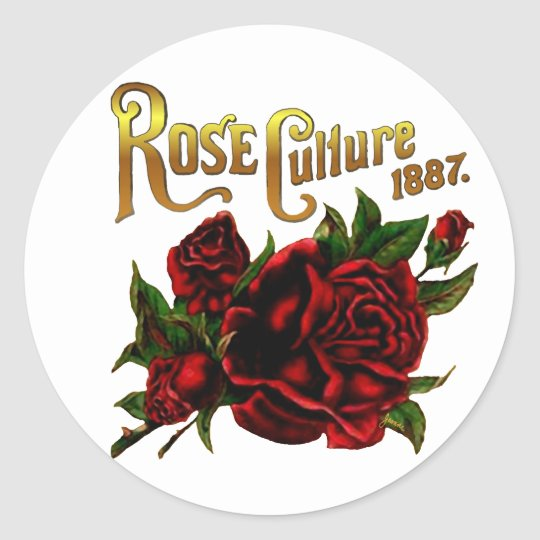 Rose Culture 1887 Classic Round Sticker