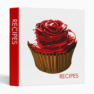 Rose cupcake recipe binder