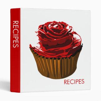 Rose cupcake recipe binder